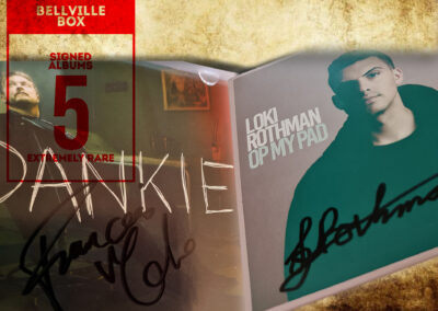 Signed CDs from Loki Rothman reward in Bellville clock tower crowdfunding campaign