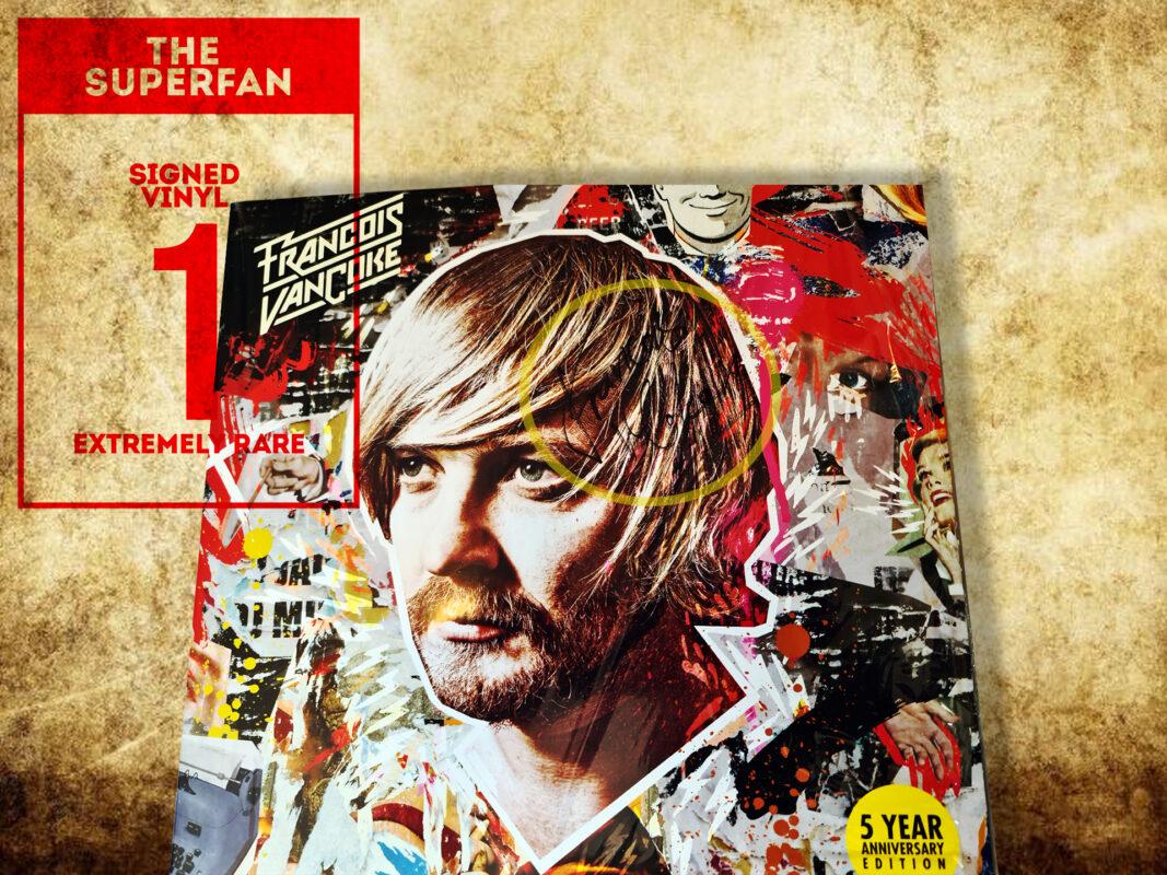 Rare signed Francois van Coke vinyl reward in Bellville clock tower crowdfunding campaign