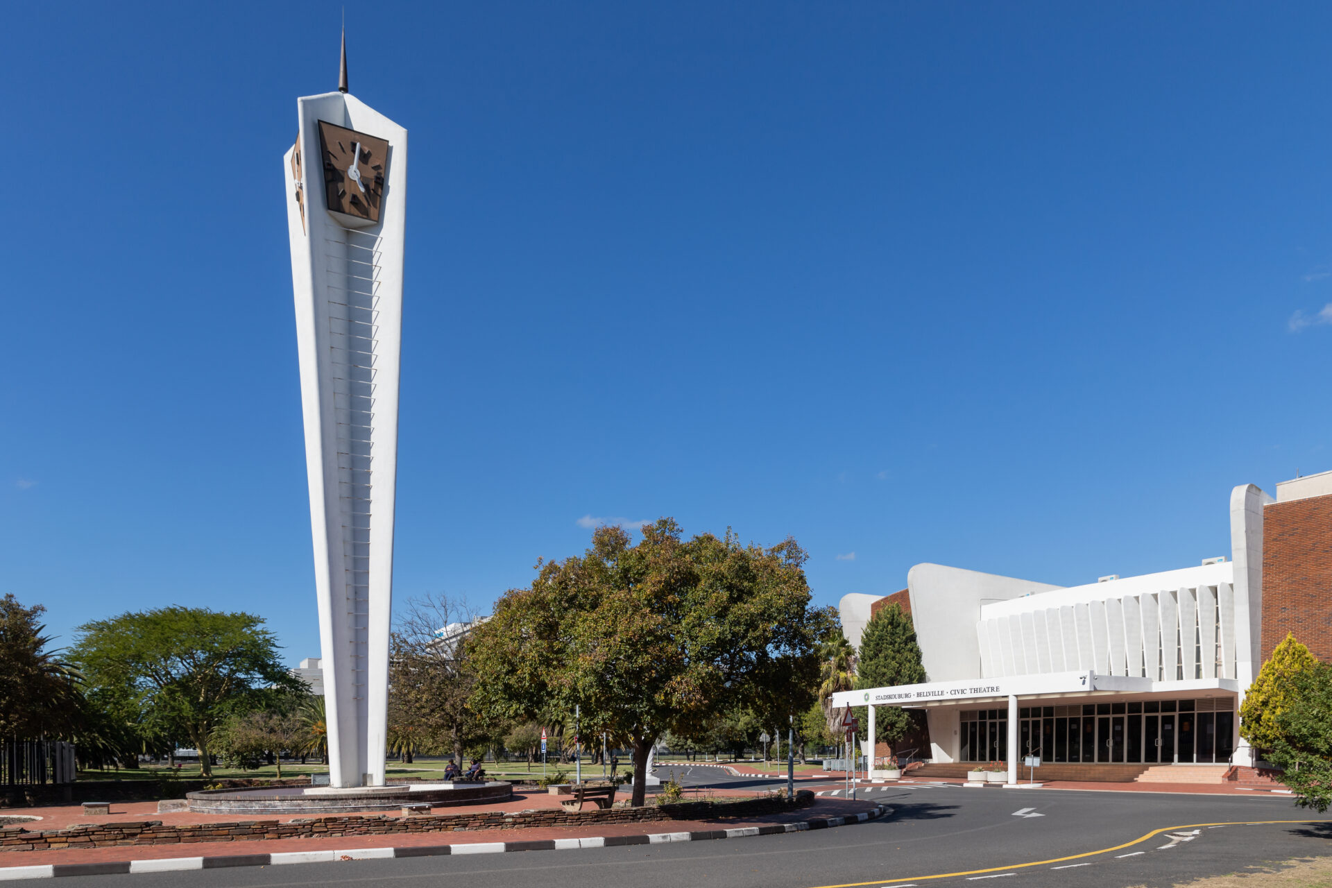 The clock tower at the Bellville Civic Centre